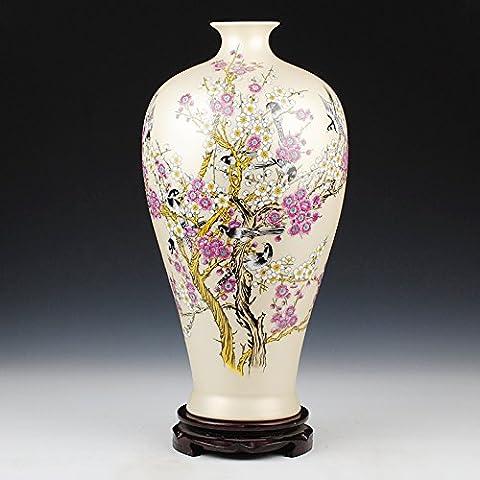 Loopsd Ceramica Porcellana tempi pastello quando la prugna Vaso bottiglia