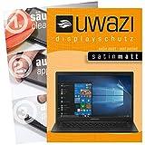 uwazi 3X Schutzfolie passend für Medion Akoya E4254 Notebook Displayschutzfolie Satin-matt Folie