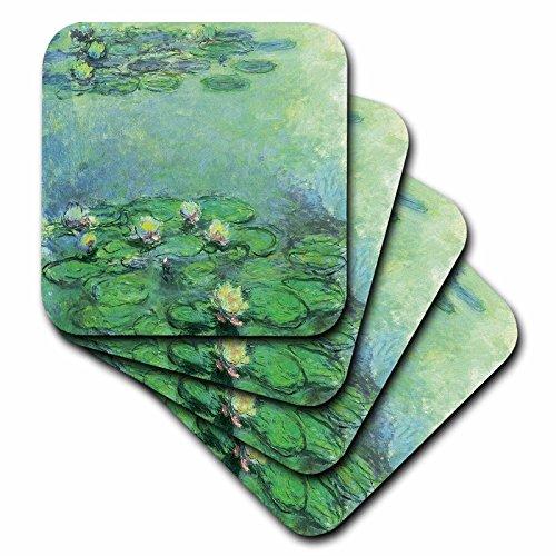3dRose BLN Claude Monet Collection–Wasser Lilien Nr. 2von Claude Monet, 1914–1917–Untersetzer, keramik, set-of-4-Ceramic (Wasser-lilie)
