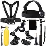 Luxebell® - 9 en 1 Kit d'accessoires pour Sony Action Cam HDR-AS15/20/30V/100V/200V - Sony Action Cam HDR-AZ1 Mini Sony FDR-X1000V/W