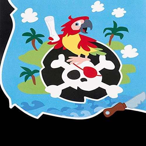 Kleine Piraten – Party Paket Kindergeburtstag Teller, Becher, Servietten, Postkarten - 4