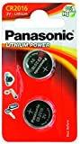 PANASONIC CR 2016 Lithium, Knopfzelle 3V  (2er Pack)