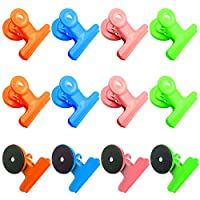 12-Piece Magnetic Clips,Fridge Magnets,Refrigerator Magnets, Whiteboard Magnets, Magnetic Memo Note Clips
