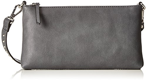 ESPRIT Damen 117ea1o045 Clutch, Grau (Dark Grey), 2,5x12,5x23 cm