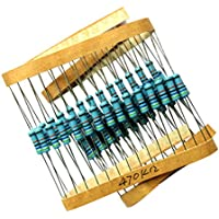 Sharplace 50 Stücke Filmwiderstände 1w 470k Ohm Präzision 1% Metallfilm Widerstand 5 Farbe
