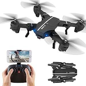 Kingtoys 8807W RC Quadcopter 2.4GHz 4CH Gyro APP Controllo Wifi FPV Quadcopter e Tenuta Altitudine,modalità senza testa, flip 3D, Drone con 2MP 720p HD Telecamera, Sistema di telecomando Smartphone((2 pcs Batteria) )