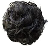 PRETTYSHOP BUN Up Do Hair Piece Hair Ribbon Ponytail Extensions Draw String Scrunchie Curled Color Variation