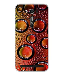 PrintVisa Designer Back Case Cover for Asus Zenfone 2 Laser ZE500KL (5 Inches) (water bubbles circles pattern drops)