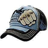 Unisex Baseball Cap Forh Mode Sommer Kappe Mesh Hüte Super Coole Hip Hop Caps Chic Besticken Brief Kappe Sommer Sport Mütze Schirmmütze (Schwarz C)