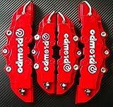 Bearony 4pcs 3D nützlich Auto Universal Scheibenbremssattelabdeckungen vorne und hinten (rot)