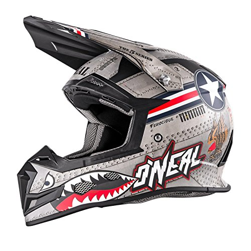 O'Neal 5Series MX Helm Wingman Metall Weiß Motocross Enduro Quad Cross, 0618-01, Größe XL (61/62...