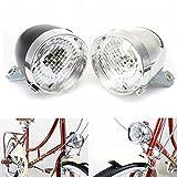ZHUOYUE 1 Stücke Vintage Fahrrad 3 LED Frontscheinwerfer Scheinwerfer Vintage Taschenlampe Lampe Hohe Qualität Motorrad Scheinwerfer Led Fahrradbeleuchtung, chrome