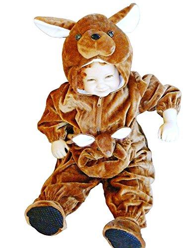 Känguru-Kostüm, F53 Gr. 80-86, für Klein-Kinder, Känguru-Kostüme Babies, Kinder-Kostüme Fasching Karneval, Kinder-Karnevalskostüme, Kinder-Faschingskostüme, Geburtstags-Geschenk (Baby-kostüm Jungen Für Ideen)