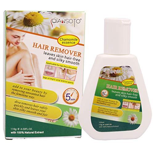 VNEIRW Sensitive Enthaarungscreme, Haarentfernungscreme,Hair Removal Cream auf Gesicht, Bikini, Unterarm, Bein, Schmerzlose Einfache Haarentfernung für seidig Glatte Haut 125g (B)