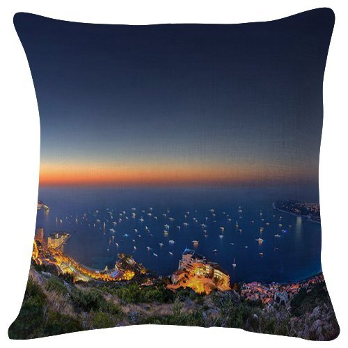 (Sydney Cityscape at Night - World- #27002 - Plush Cushion Covers Throw Pillowcases Super Soft Fashion Simple Decorative Pillowcases 18x18 inches)