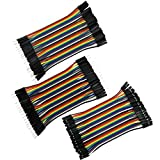 COMeap 120pcs 10CM 40pin Male to Female, 40pin Male to Male, 40pin Female to Female Breadboard Jumper Wire Ribbon Dupont Cables Kit