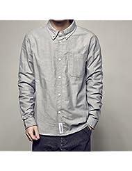 Camisa de manga larga casual camisas hombres patch vintage,XL