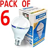 [Sponsored]6W OREVA COOL WHITE LED BULB LAMP WITH SENSOR AUTO ON-OFF B22D (Pack Of 6)