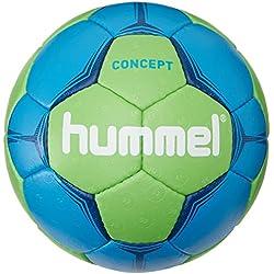Hummel–Balón de balonmano para adulto Concept, todo el año, color Azul - Neon Blue/Neon Green, tamaño 2