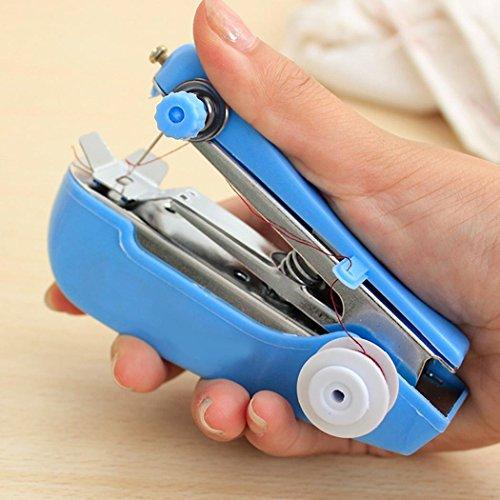Gugio Mini Máquina de Coser Portátil,  Herramienta Manual Portátil Herramienta de Puntada Rápida para Tela,  Ropa o Tela de Niños(Color al Azar)