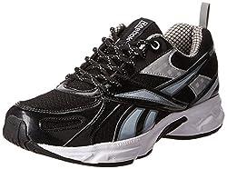 Reebok Mens Acciomax 5.0 Black,Grey,Silver And White Running Shoes - 11 UK
