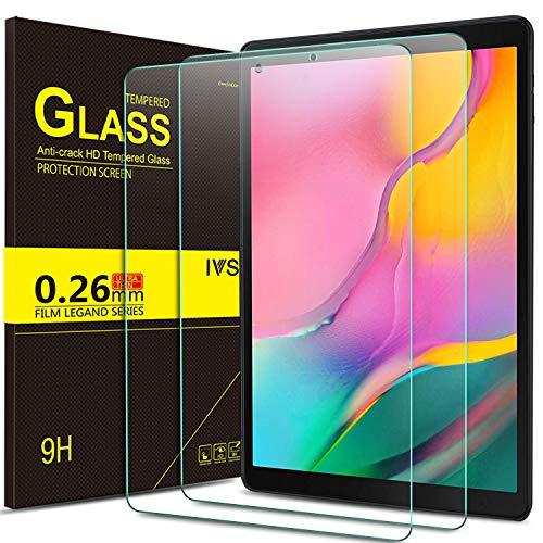 IVSO Displayschutz für Samsung Galaxy Tab A T515/T510 10.1 2019, 9H Härte, 2.5D, Displayfolie Schutzglas Displayschutz Für Samsung Galaxy Tab A 2019 T515/T510 10.1 Zoll, (2 x)