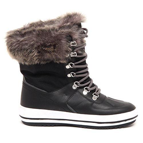 Cougar D8506 (Without Box) Stivale Donna Tissue Viper Black Boot Woman Nero