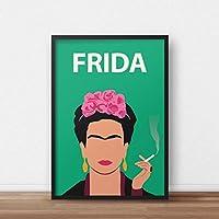 Frida Kahlo Poster Print / / oeuvre féministe - Minimaliste - Inspiré - Coloré - Cadeau pour elle - Art rétro - Minimaliste - Affiche