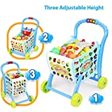 CLASTIK 3 In 1 Hand Induction Kids Shopping Cart With Lights And Music