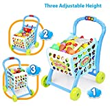 #9: CLASTIK 3 in 1 Hand Induction Kids Shopping Cart with Lights and Music