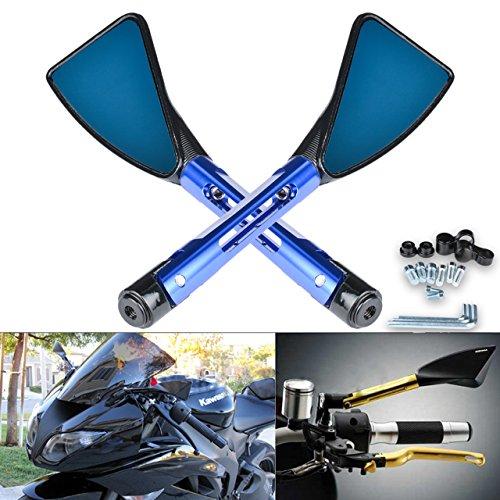 Pack de 2 TUINCYN Triangle R/étroviseurs Moto Noir CNC Usin/é Billette En Aluminium Universel Mortorbike Sport V/élo R/étroviseur Lat/éral Arri/ère