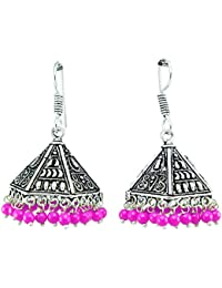 QRAFTINK Oxidised Silver Jewelry/ Sterling Silver/ German Silver Jaipur Collection Rajasthani Artificial/ Imitation...