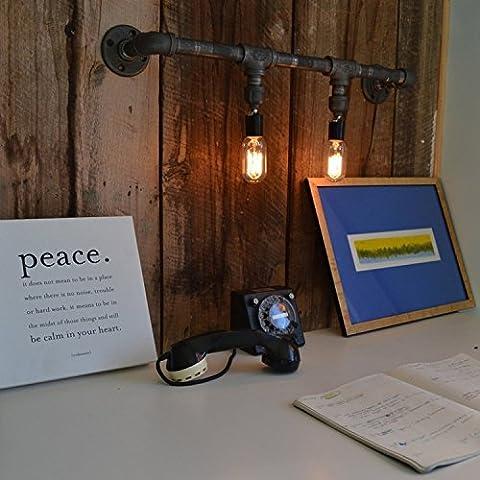 MSRRY Personalizzare il creative della parete del tubo lampade industriali retrò bar lounge cafe negozi di luci da parete Decorazione lampada