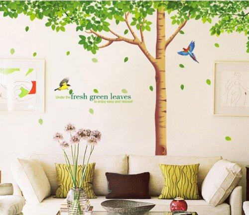 rainbow-fox-adesivo-da-parete-per-soggiorno-con-riproduzione-di-albero-a-foglie-verdi