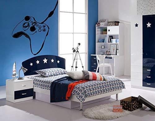 Byron Hoyle 380b Wandaufkleber für Schlafzimmer Controller Xbox Playstation Videospiele Jungen Teenager Zimmer