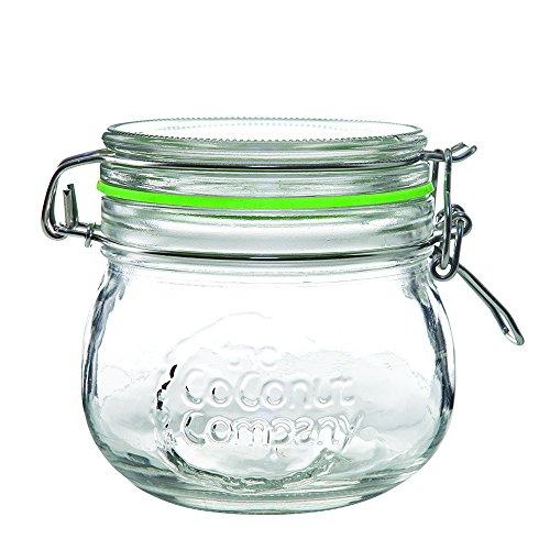 Kilner Style Bocal de Clip en verre X 12, bouteille en verre de 500 ml avec joint en silicone de noix de coco – La Société