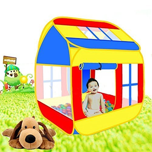Childrens Pop up Play Tent House For Kids - Indoor and Outdoor Large Space Play House