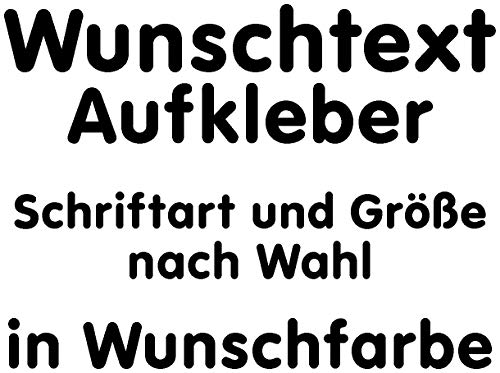 Samunshi® Aufkleber Autoaufkleber Name Wunschname Sticker Wunschtext Personalisierbar variabel schwarz