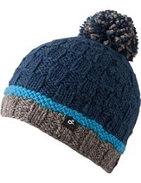 Jonès Mütze - schöne Strickmütze mit Bommel unisex - Fleece inside 100% Wolle - handmade