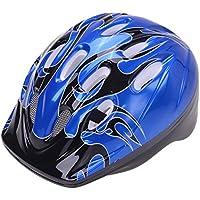 Filmer Casco de ciclismo infantil, negro/azul, talla 52-56 cm