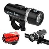 #9: Futaba Bicycle 5 LED Head Light 5 LED Rear Lamp