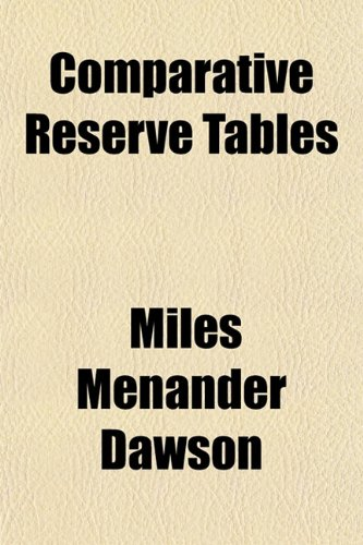 Comparative Reserve Tables