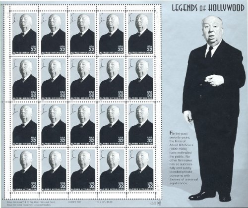 alfred-hitchcock-legends-of-hollywood-full-sheet-of-20-x-32-cent-postage-stamps-usa-1998-scott-3226