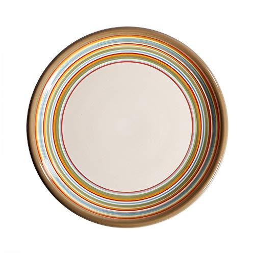 ZFF 2 Stücke / 5 Stücke Kreative Western Dish Steak Platte handgemalte Keramikplatte Home Food Platte Salatplatte Kuchenplatte Dekorplatte