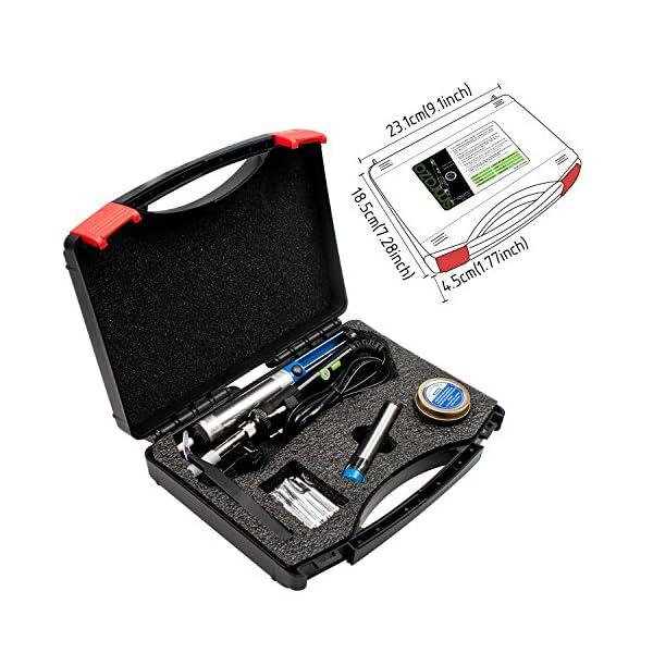 Kit de Soldador, Smraza 60W 220V Soldador Estaño Kit de Temperatura Ajustable