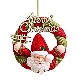 Guirnalda del hombre de la nieve de la Navidad, coronado con Bell Ball colgante Decoración de la Navidad para la puerta