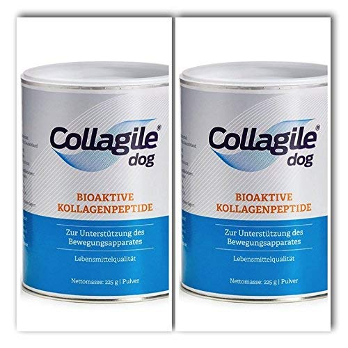Collagile® dog 225g - Bioaktive Kollagenpeptide in Lebensmittelqualität (2 Dosen)
