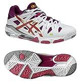 Asics Gel-Sensei 5, Chaussures de Sport Femme, Blanc/Magenta/Limette, 38 EU