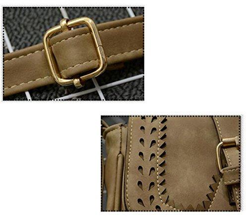 Frauen / Mädchen Gedruckt Hohle Shell Tasche Handtasche Schulter Messenger Bag Handtaschen Blue