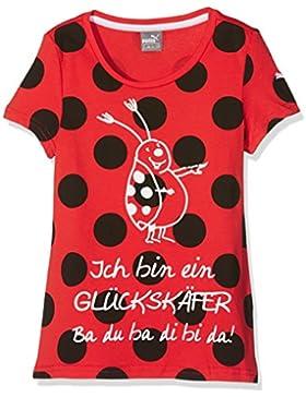 Puma Niños Tabaluga de eslogan Tee–Camiseta, infantil, Tabaluga -  Slogan Tee, rojo escarlata, 3 años (98 cm)
